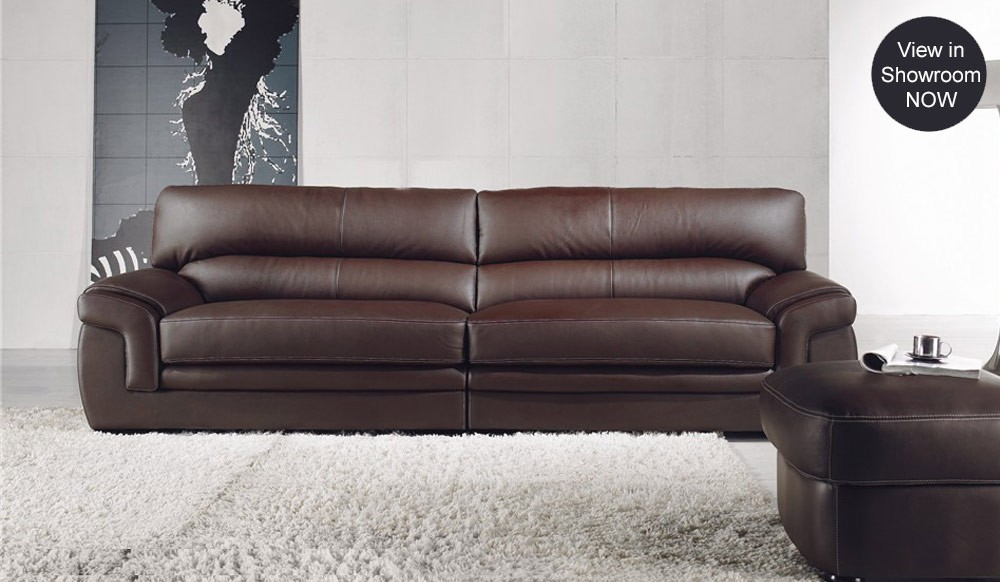 Bachelli leather sofa 4 seater delux deco furniture for Leather sofa 7 seater