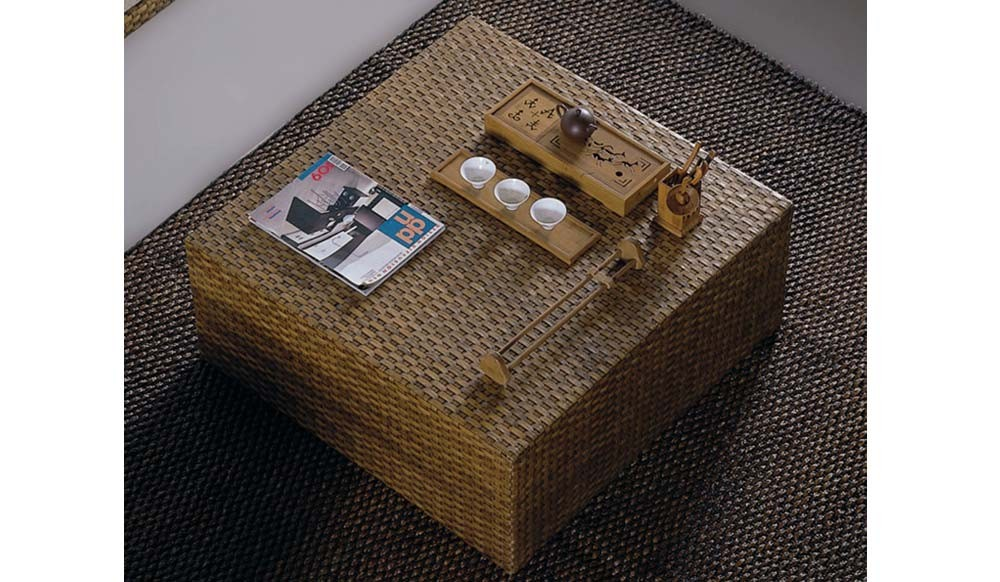 fendi coffee table - conservatory / rattan / water hyacinth