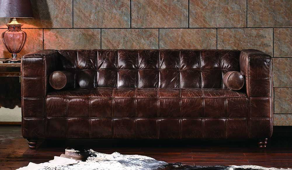 Hanover Vintage Leather   3 Seater Sofa