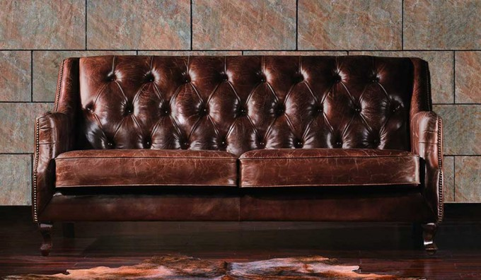 Dowding Vintage Leather - 3 Seater Sofa