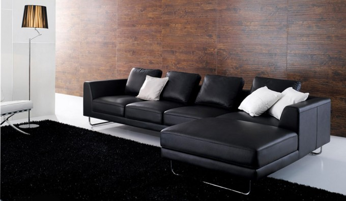 Duvell Leather Corner Sofa