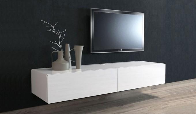 Ikon White Floating TV Unit - 166cm