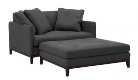 Aqua Loveseat and Ottoman