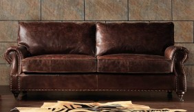 Burlington Antique Leather - 3 Seater Sofa