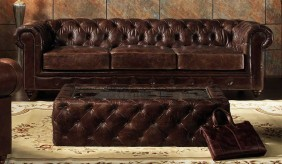 Chesterfield Vintage Leather - 3 Seater Sofa