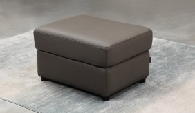 Forza Leather Footstool