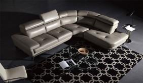 Geneva Leather Corner Sofa