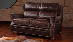 Landsdowne Antique Leather - 2 Seater Sofa