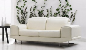 Nero 3 Seater Leather Sofa