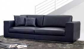 Modern leather designer sofa