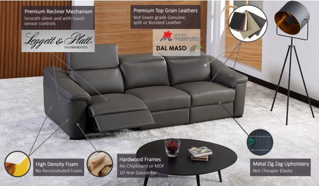 Forza Plus 4 Seater Electric Recliner Sofa. Loading Zoom. View In Popup.  Previous Next