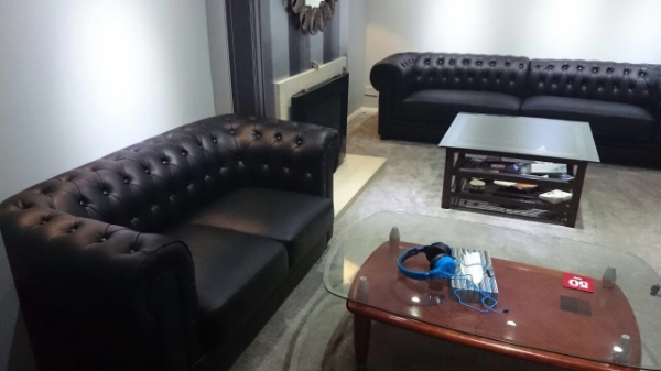 Black Chesterfield Leather sofa