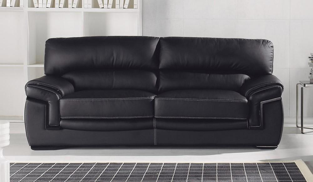 Amazing Bachelli Black Leather Sofa 3 Seater High Quality Theyellowbook Wood Chair Design Ideas Theyellowbookinfo