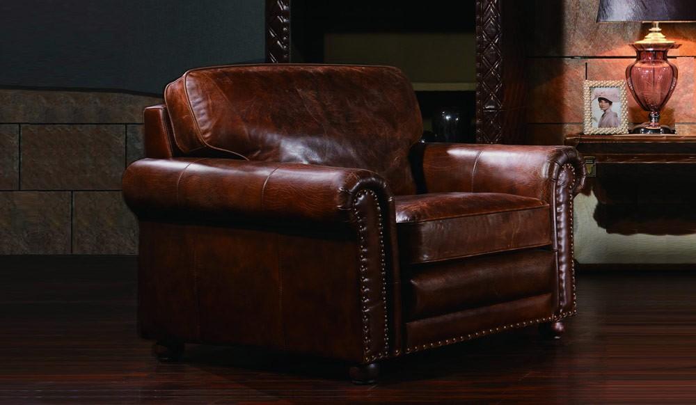 Berkeley Vintage Leather - Armchair - Luxury - Delux Deco