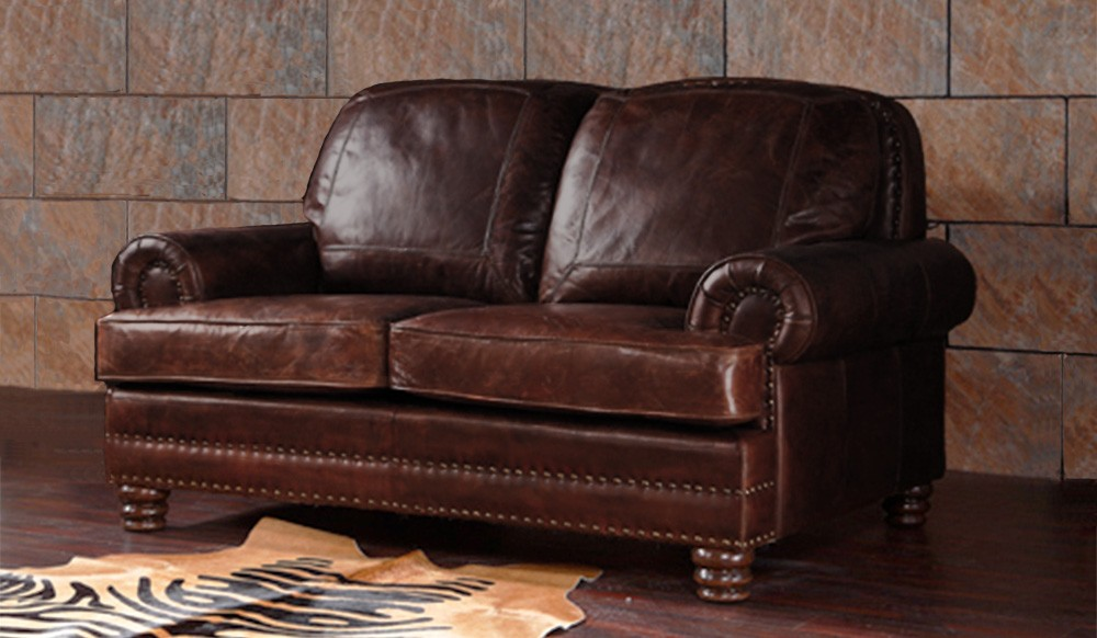 Chambers Vintage Leather - 2 Seater Sofa - Luxury - Delux Deco