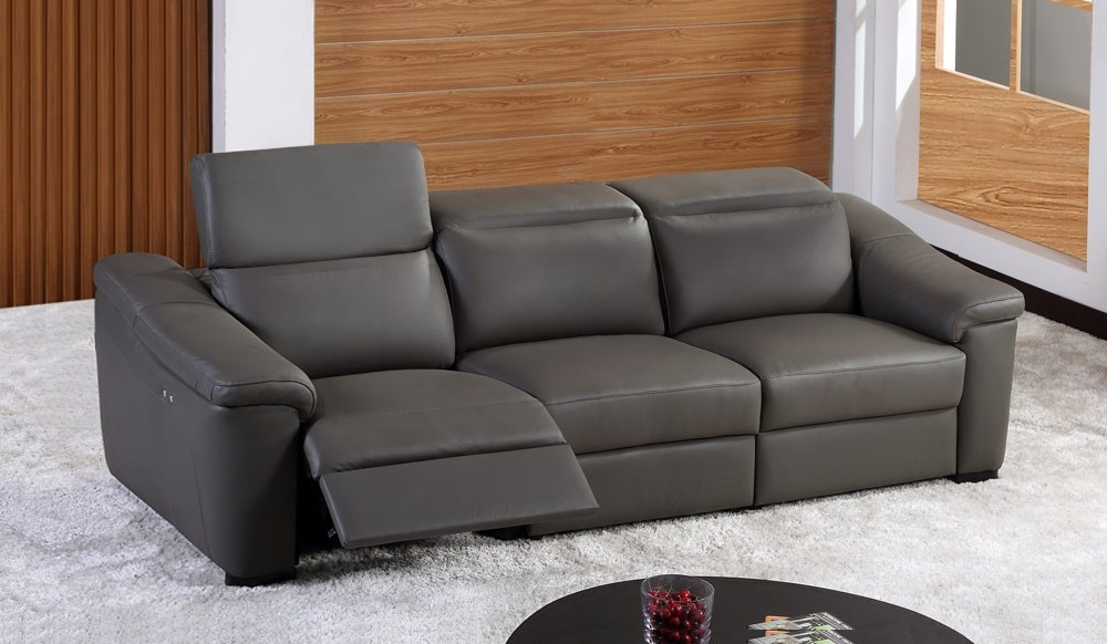 Forza 4 Seater Eclectric Recliner Sofa - top grain leather ...
