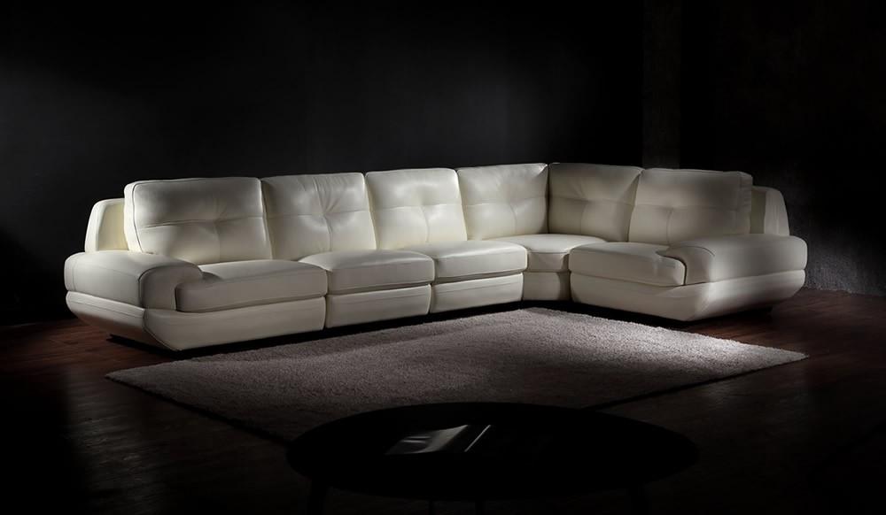 Armani Modular Corner Leather Sofa Top Grain Leather