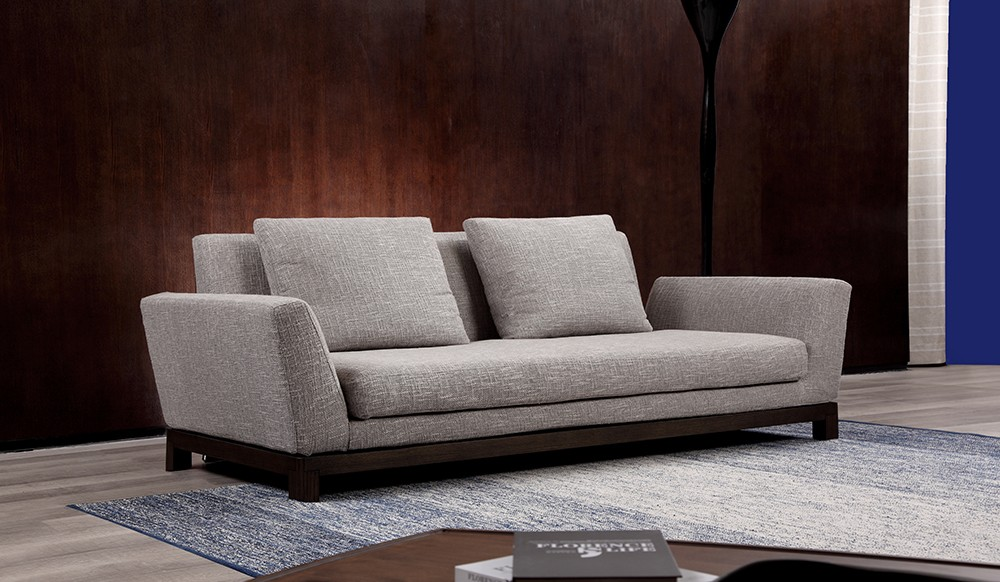 Lotus fabric 2 seater sofa by Delux Deco