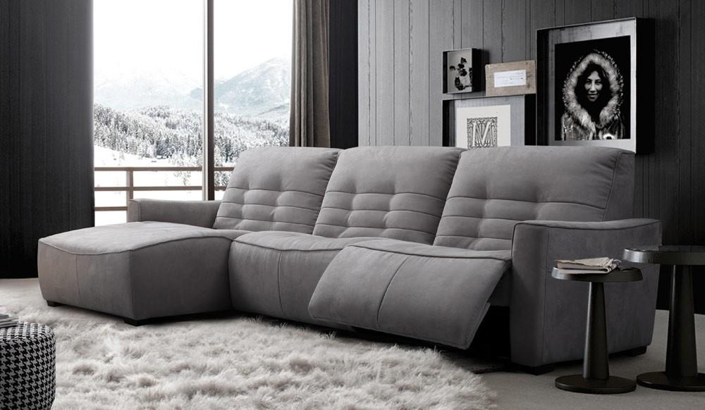 Rosetta Fabric Recliner Corner Sofa