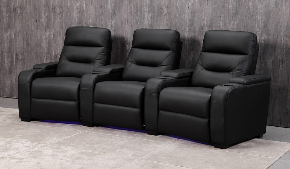 Universal 3 Cinema Chairs Full Electric Recline Top