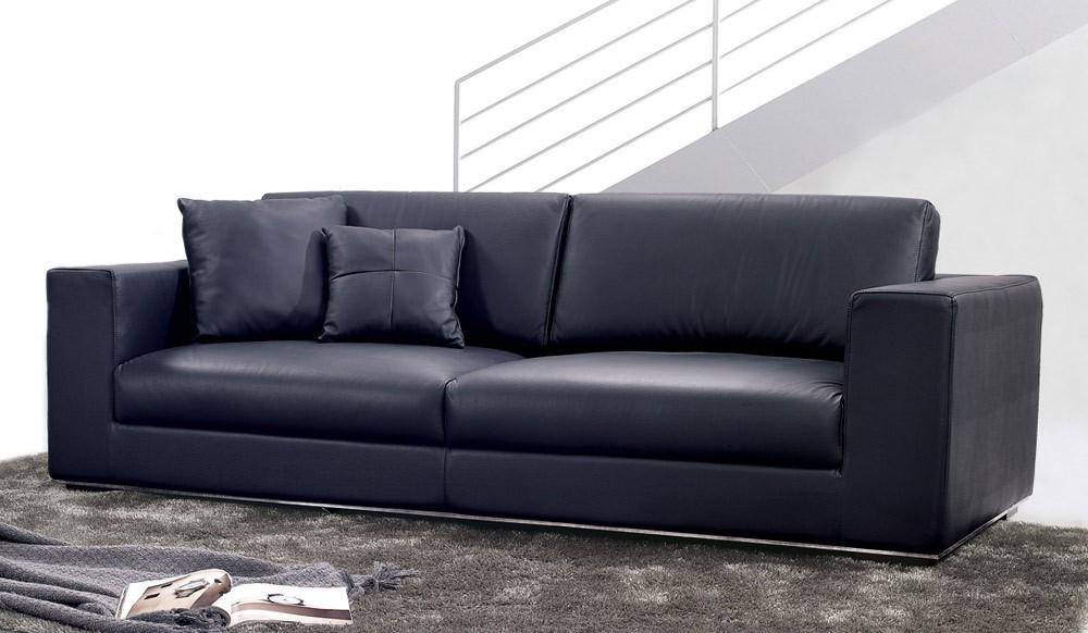 Onyx Leather 3 Seater Sofa