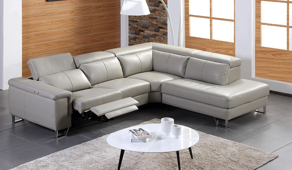 Prema Corner Electric Recliner Sofa - top grain leather ...