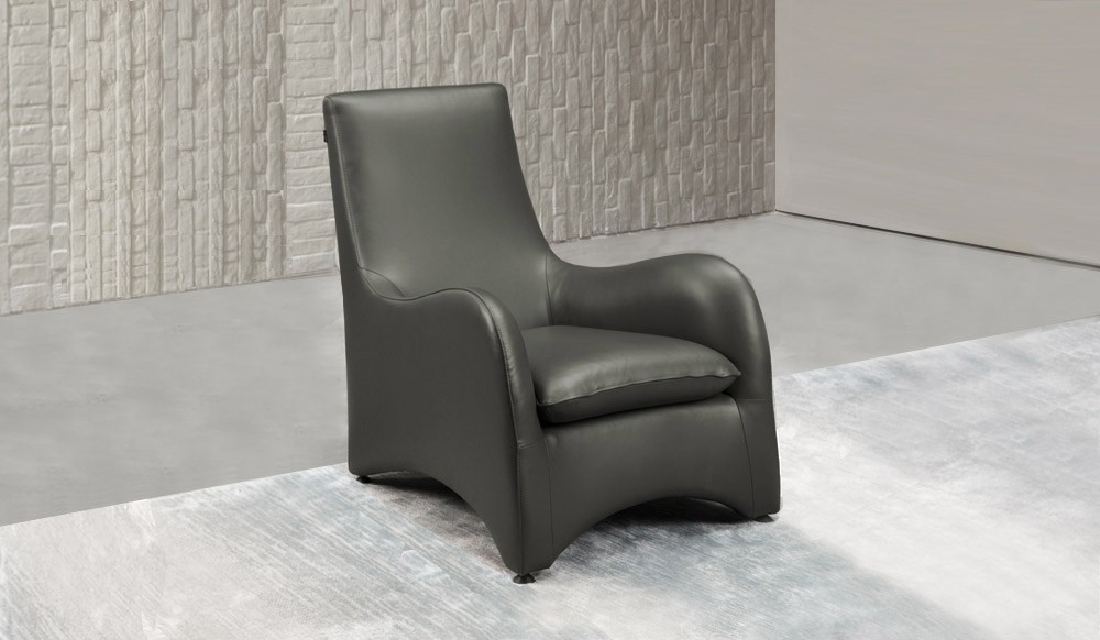 Swoop Armchair Leather By Delux Deco