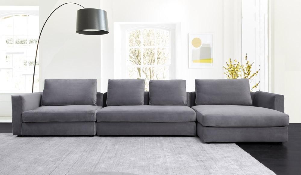 Tonini Large L Shape Velvet Sofa, L Shape Sofas Uk