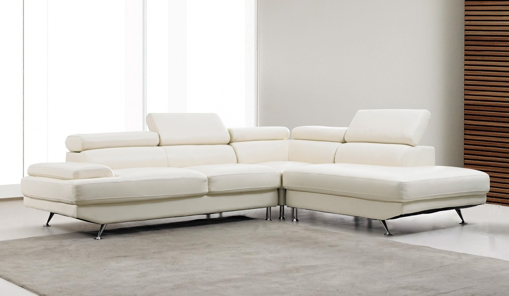 Vincenzo Leather Corner Sofa Contemporary Style Delux Deco