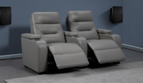 Universal 2 Cinema Chairs - Straight - Chelsea Grey