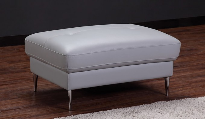 Certosa Leather Footstool