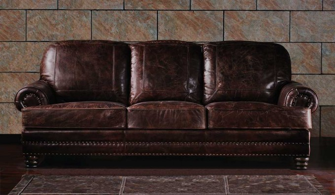 Chambers Vintage Leather - 3 Seater Sofa