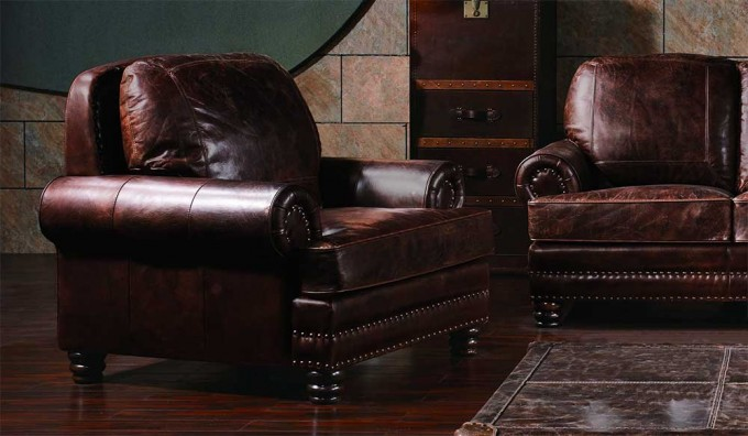 Chambers Vintage Leather - Armchair