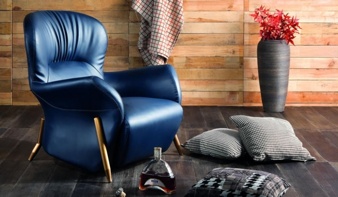 Opus Leather Lounger Chair