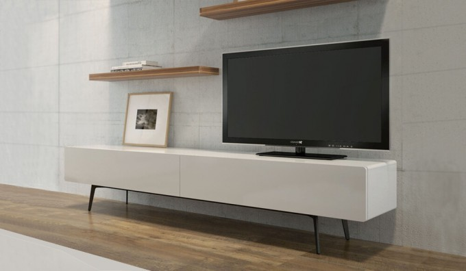 Ikon Matte White STANDING Cabinet - 220cm