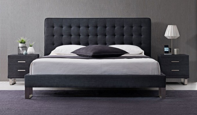 Deco Semi-Tufted Multifunctional Bed - Super King - Graphite Grey (2 ONLY)