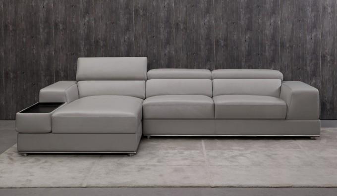 Domino Leather Corner Sofa
