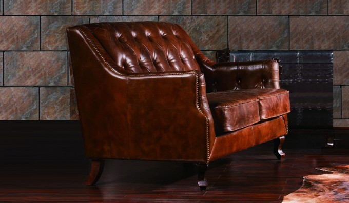 Dowding Vintage Leather - 2 Seater Sofa