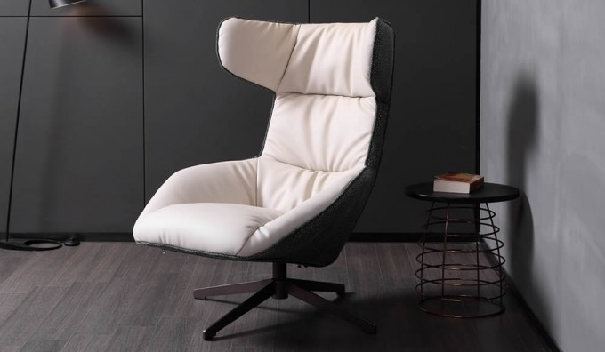 FIN Wingback Swivel Armchair