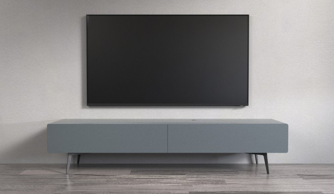 Ikon Matte Graphite STANDING Cabinet - 220cm