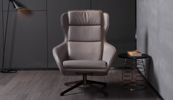 Aero Faux Leather Swivel Armchair
