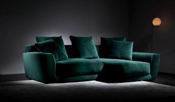 Urban Velvet Small Corner Sofa