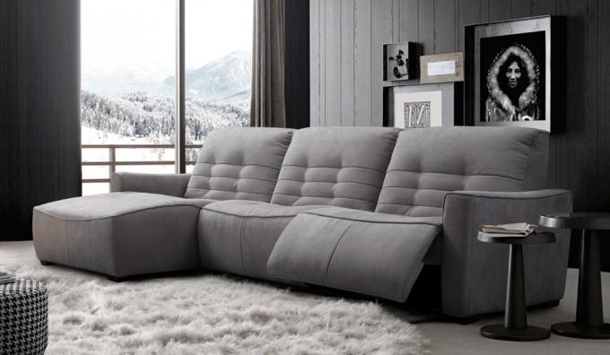 Rosetta Fabric Corner Recliner Sofa