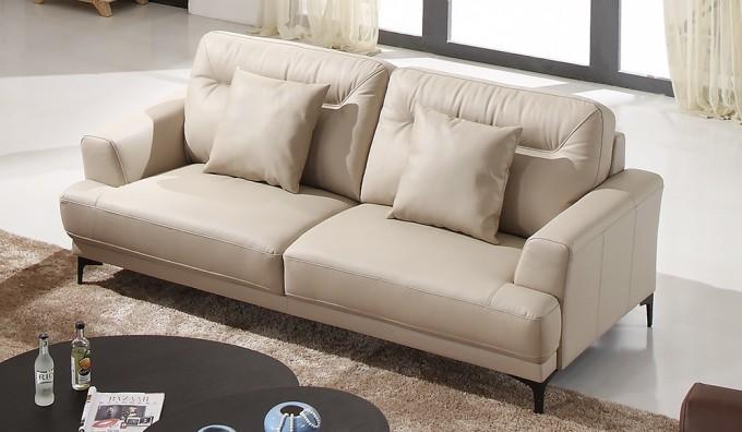 Oskar 3 Seater Leather Sofa