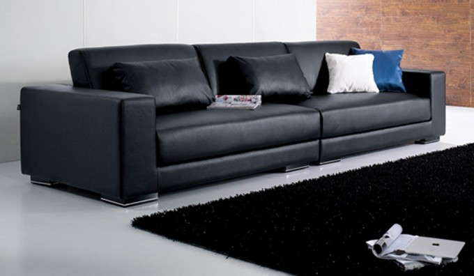 Mac Leather 4 Seater Sofa
