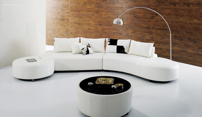 Cresent Leather Corner Sofa