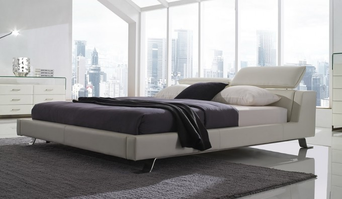 Ceno Leather Bed with USB & LED Lights Option