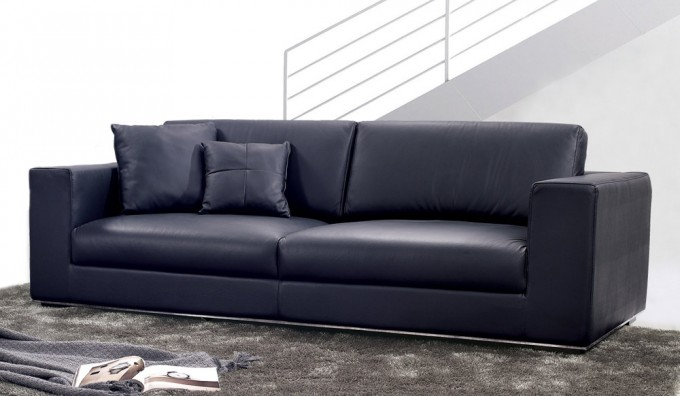 Onyx Leather 3 Seater Sofa