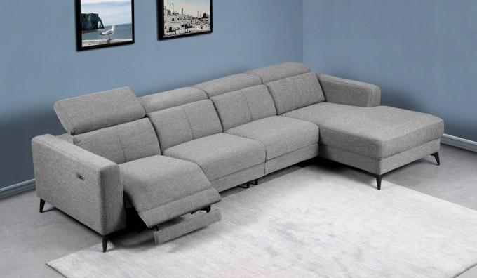 Palazzo Fabric Large Corner Recliner Sofa