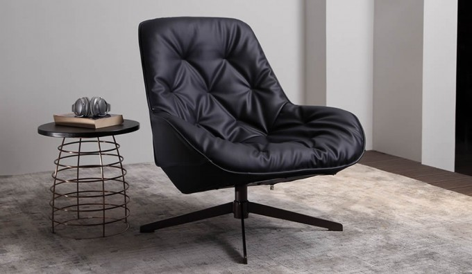 Ripasso Faux Leather Swivel Chair